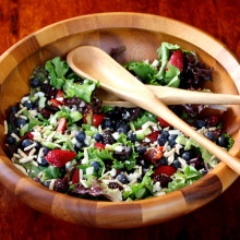 Triple Berry Salad with Sugared Almonds 2