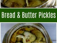pinterest collage for bread and butter pickles