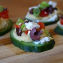 Greek Salad Cucumber Bites