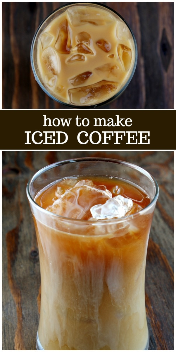 How to Make Iced Coffee recipe from RecipeGirl.com #iced #coffee #recipe #RecipeGirl