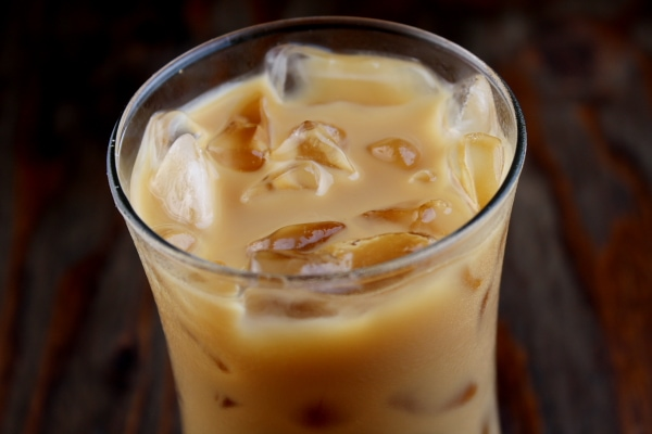 close up photo of iced coffee