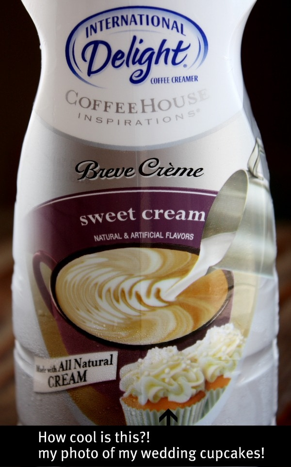 bottle of sweet cream coffee creamer