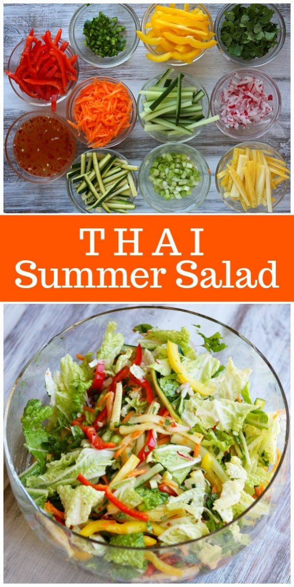 Thai Summer Salad recipe from RecipeGirl.com : #weightwatchers #SmartPoints #wwfreestyle