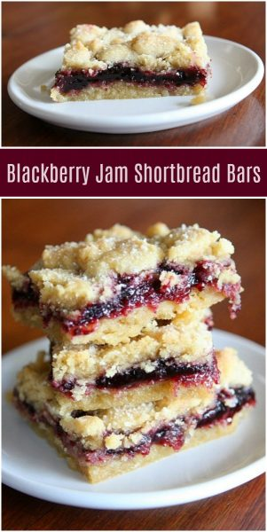 Blackberry Jam Shortbread Bars - Recipe Girl