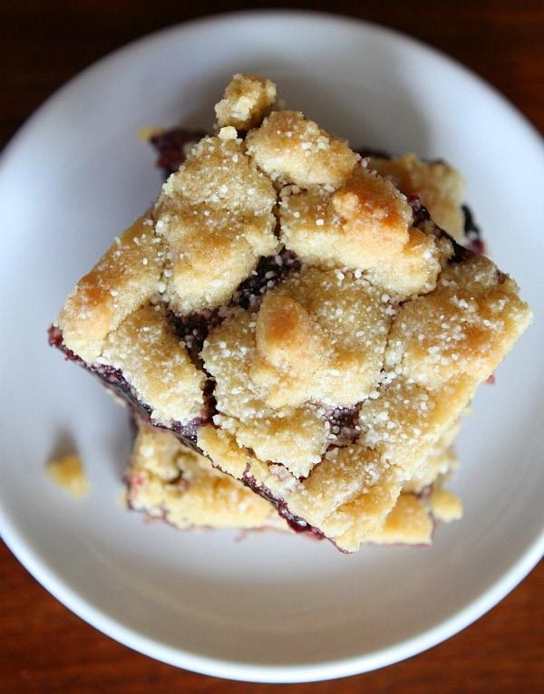 Blackberry Jam Shortbread Bars 4