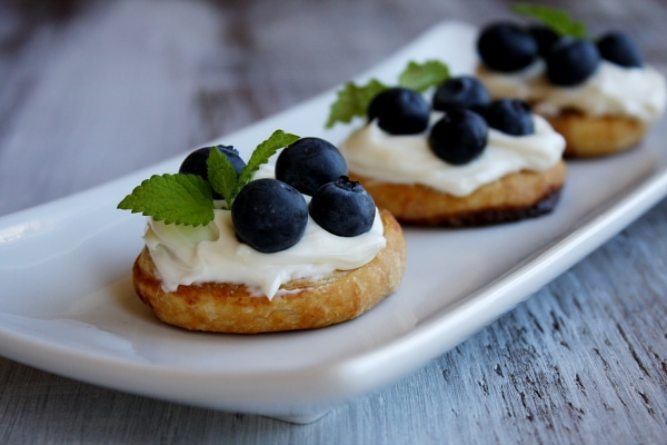 Fresh Blueberry Dessert Bruschetta