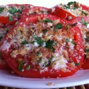 Heirloom Tomatoes with Asiago and Fresh Herbs