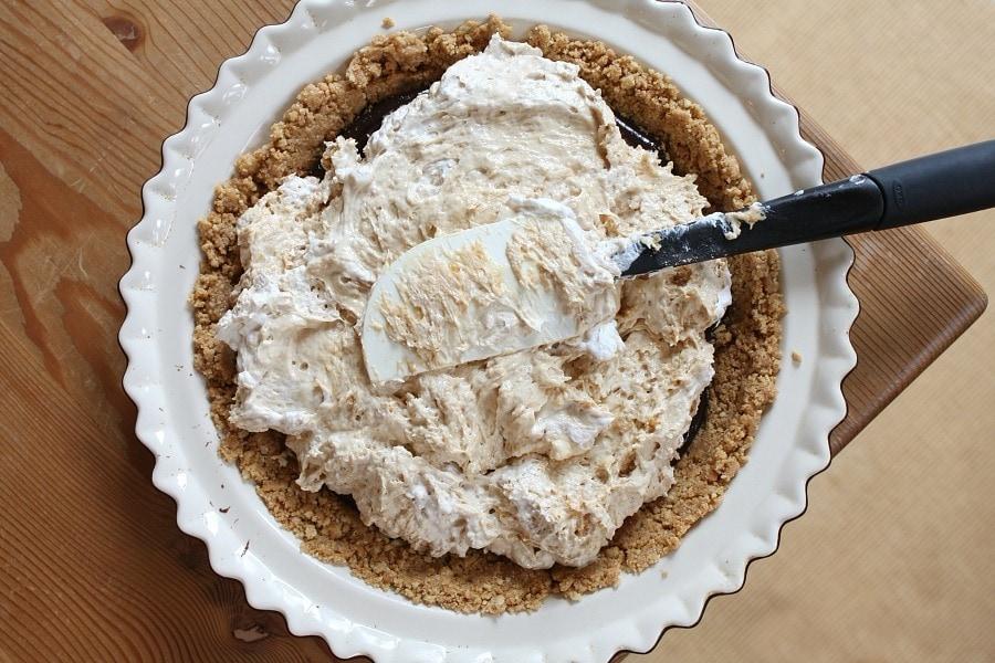 Making Nutter Butter Peanut Butter Pie