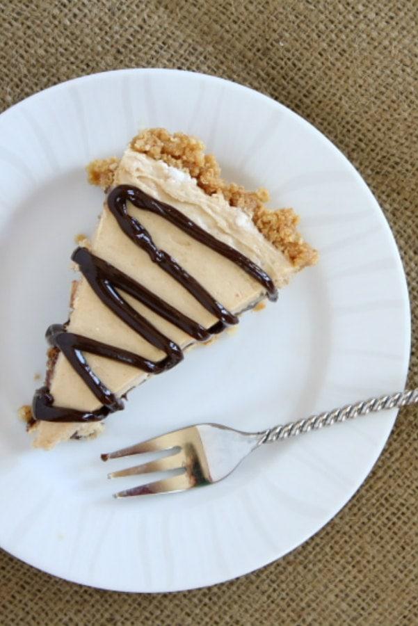 slice of Nutter Butter Peanut Butter Pie