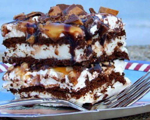 ice cream sandwich toffee dessert recipe Frozen Caramel Toffee Ice Cream Sandwich Dessert