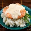 Salmon with Creamy Coconut- Ginger Sauce