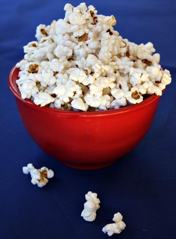 Bowl of Stove Popped Popcorn