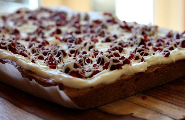 White Chocolate Cranberry Bliss Bars recipe - from RecipeGirl.com