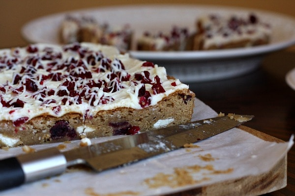 White Chocolate Cranberry Bliss Bars