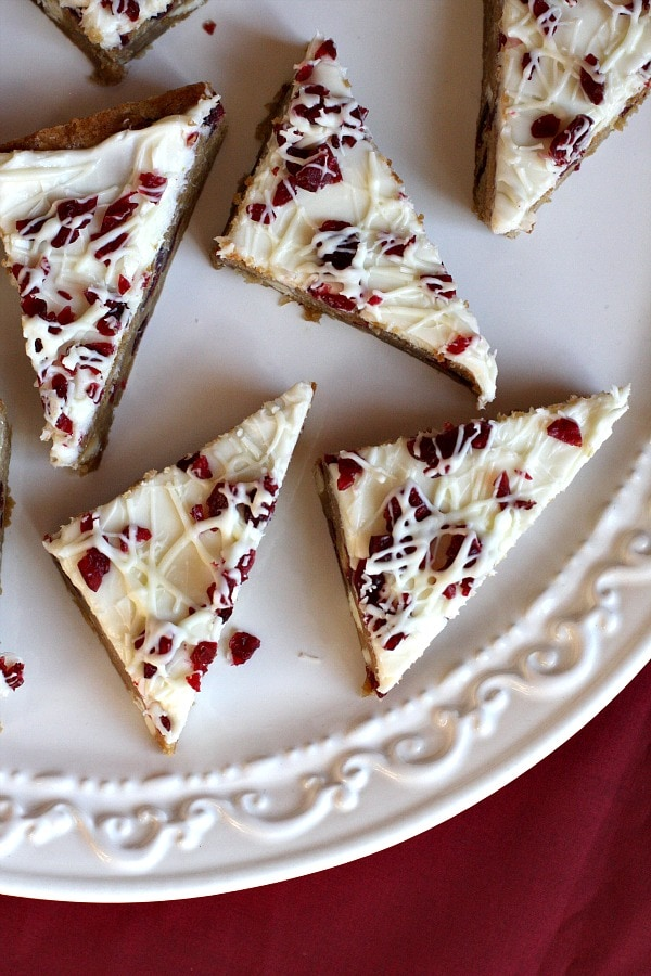 Cranberry Bliss Bars - Recipe Girl