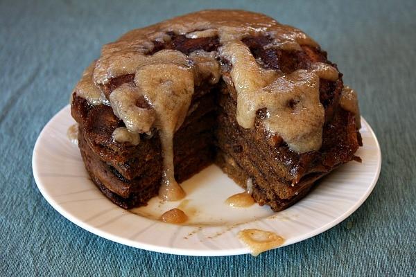 Gingerbread Cinnamon Roll Pancakes 12
