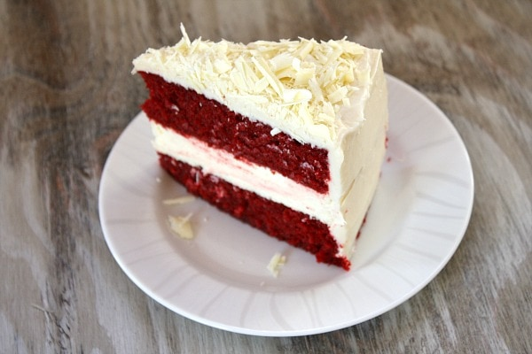 Slice of Red Velvet Cheesecake Cake