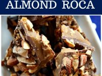 Pinterest collage image for almond roca
