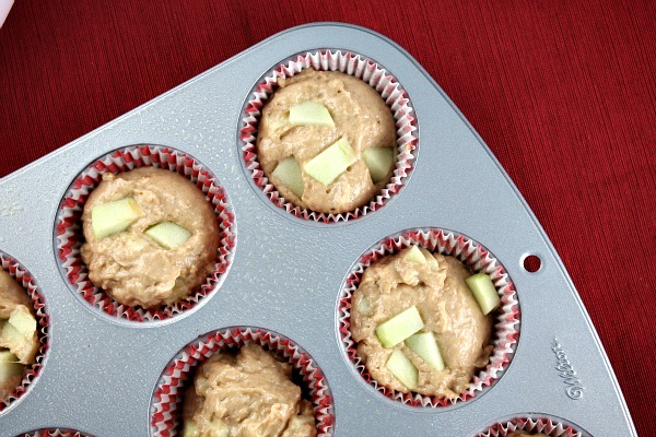Apple Fritter Muffins ready to bake