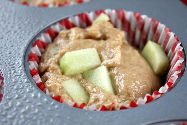 Apple Fritter Muffins batter