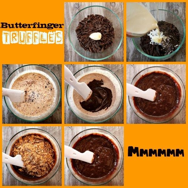 How to make Butterfinger Truffles