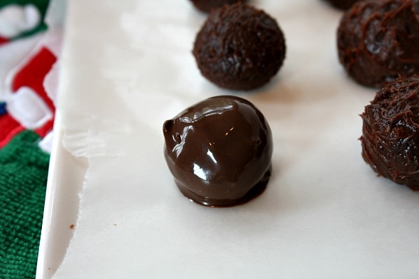 Butterfinger Truffles dipped in chocolate