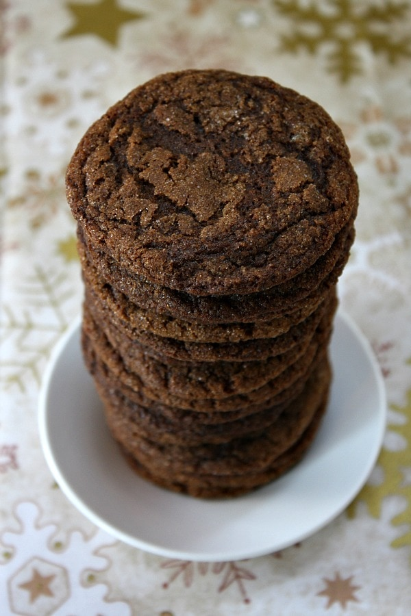 Gluten Free Molasses Crinkles Cookies