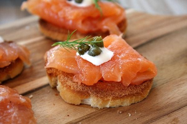 Salmon Gravlax Appetizer