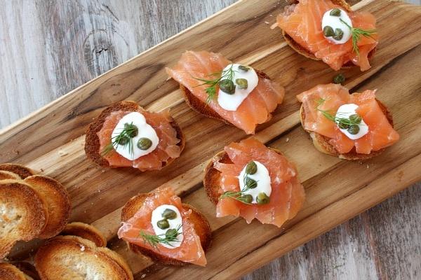 Salmon Gravlax appetizers