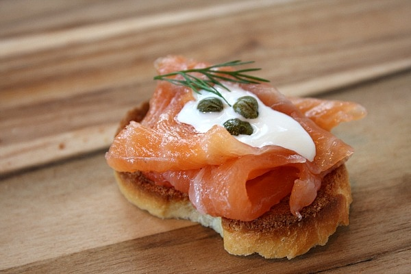 Gravlax served as an appetizer