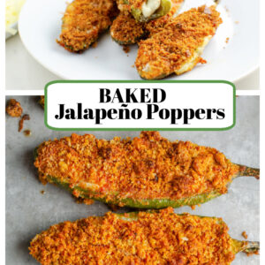 pinterest collage image for baked jalapeno poppers