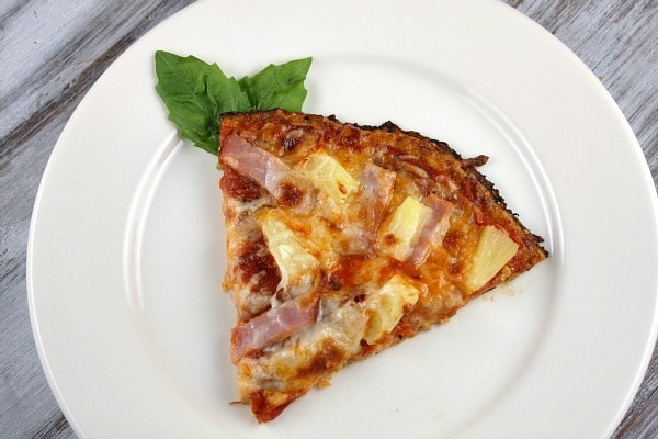 Slice of Cauliflower Crust Pizza