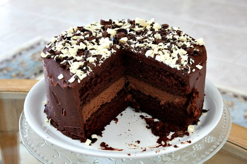 Cake chocolate recipe shaved