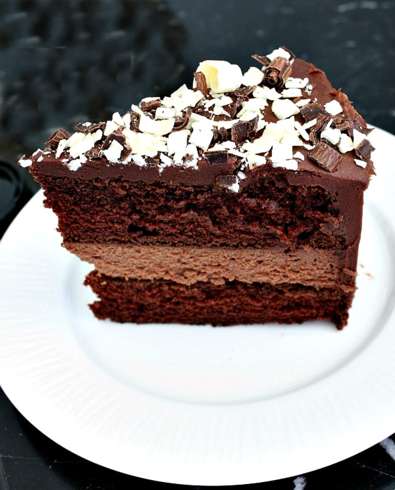 Slice of Chocolate Cheesecake Cake