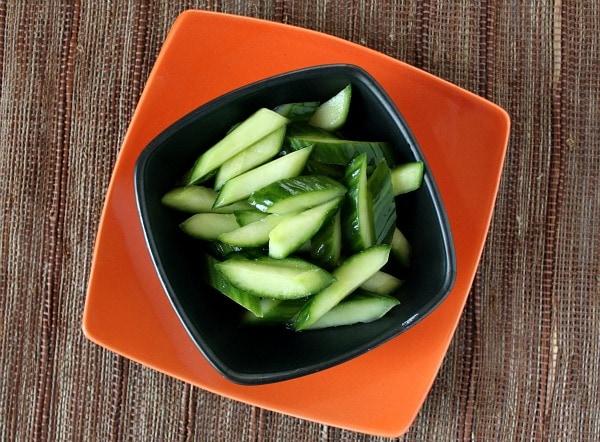 Easy Cucumber Salad recipe by RecipeGirl.com