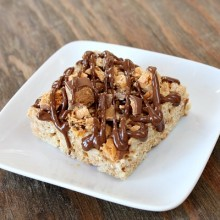 Butterfinger Rice Krispie Treats 9