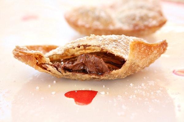 Nutella Heart Ravioli Recipe — Dishmaps