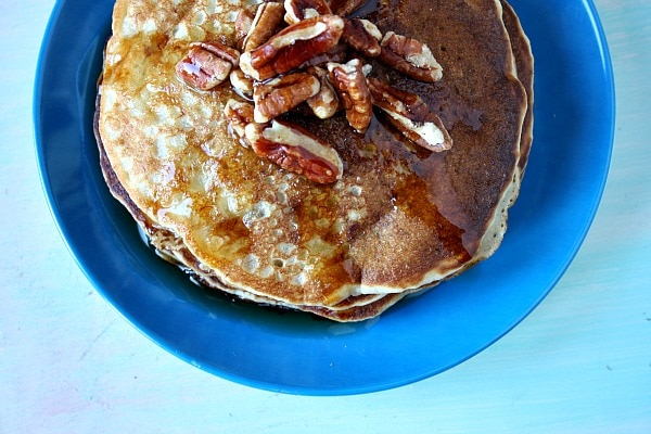 Banana - Pecan Pancakes Recipe — Dishmaps