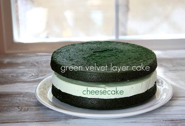 How to make Green Velvet Cheesecake Cake