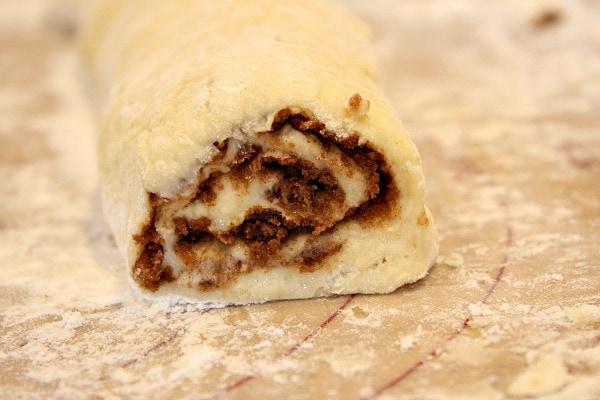 making No Yeast Cinnamon Rolls