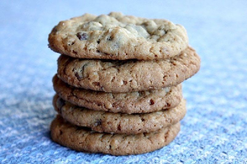 stack of peanut butter chocolate chip cookies