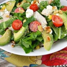 Chicken Spinach Salad 8