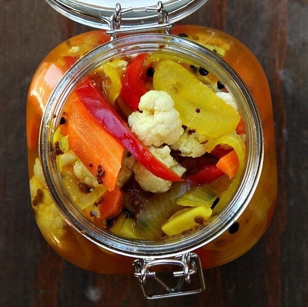 onions pickled okra pickled radishes pickled red tomatoes pickled ...