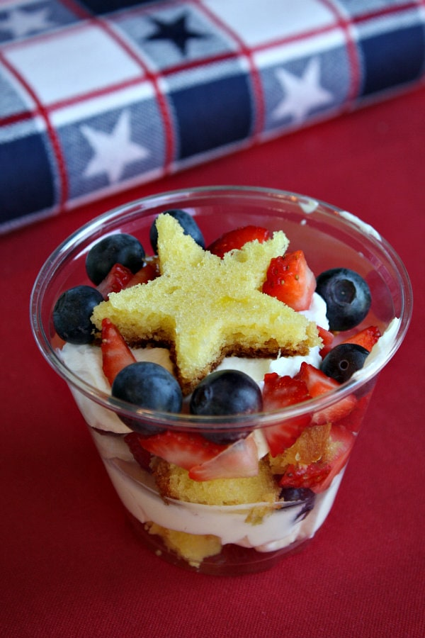 Fresh Berry Trifles | All-American 4th Of July Desserts | healthy red white and blue desserts