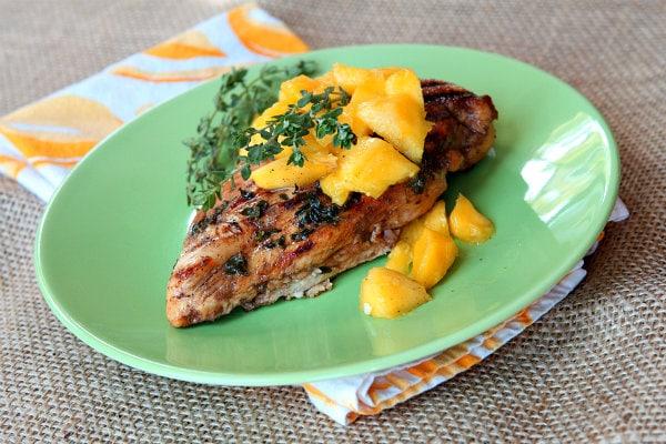 Balsamic- Mango Marinated Grilled Chicken 1