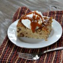 Cinnamon- Caramel Bread Pudding from RecipeGirl.com 1