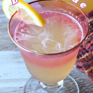pinterest image for ginger beer lemonade