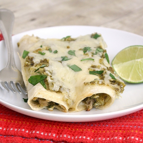 Lighter Chicken Enchiladas Verdes by Tracey's Culinary Adventures ...
