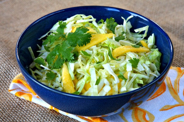 Easy Mango Slaw recipe by RecipeGirl.com