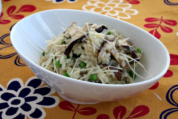 Shiitake and Sweet Pea Risotto 1